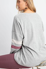 Colorblock Sleeve Sweater