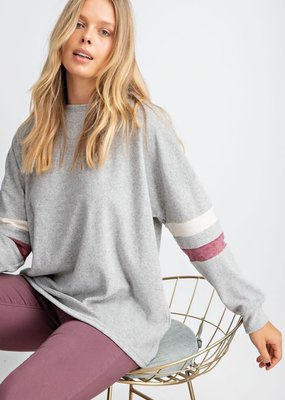 Colorblock Sleeve Sweater