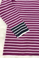Magenta and Navy Stripe Sweater