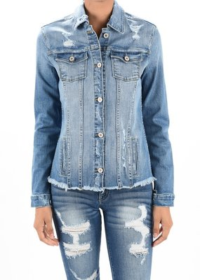 Frayed Edge Denim Jacket