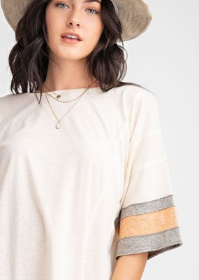 Oatmeal Cotton Slub Tee