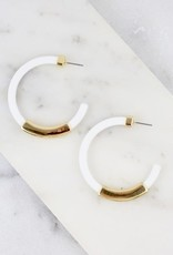 Coco White Silicone Hoop Earring