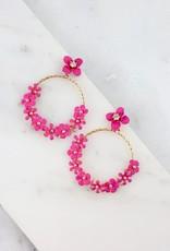 Grawp Fuschia Flower Earring