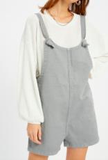 Grey Tie Shoulder Overalls