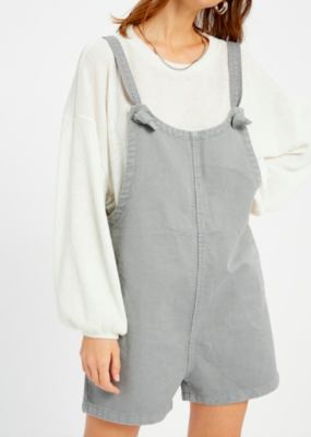 Grey Tie Shoulder Overalls