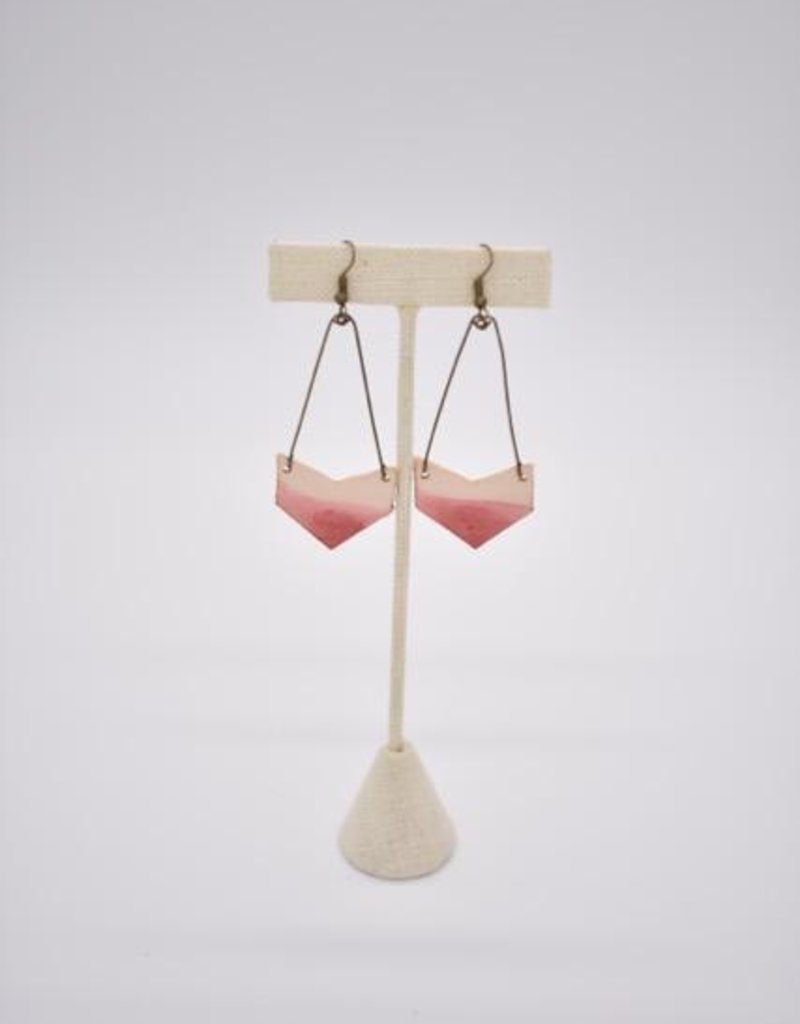 Dip Leather Arrow Earring Coral