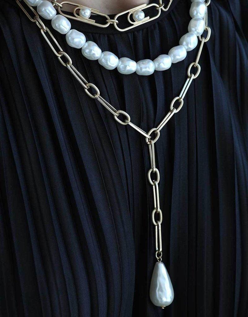 Ensley Y Necklace Ivory Pearl