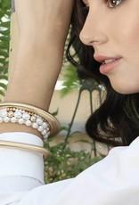 Elizabeth Stretch Bracelet Ivory Pearl
