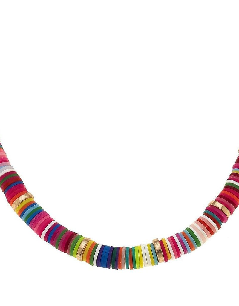 Emberly Color Block Necklace Multi