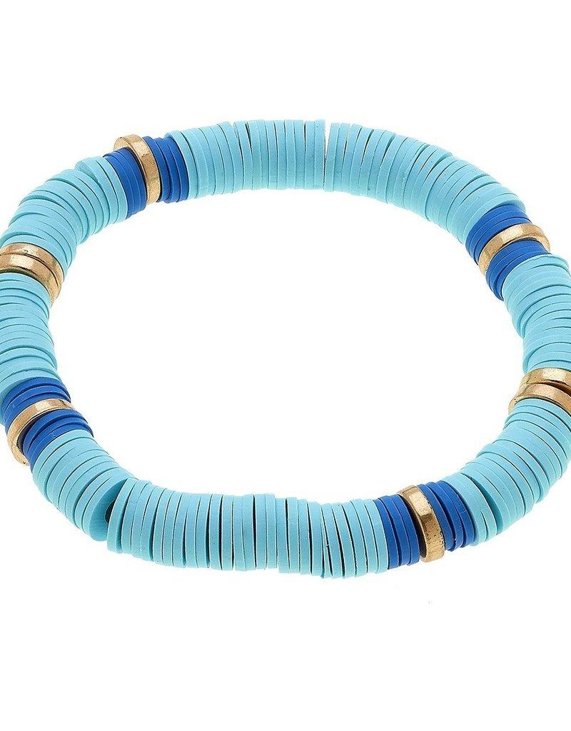 Emberly Color Block Bracelet Aqua
