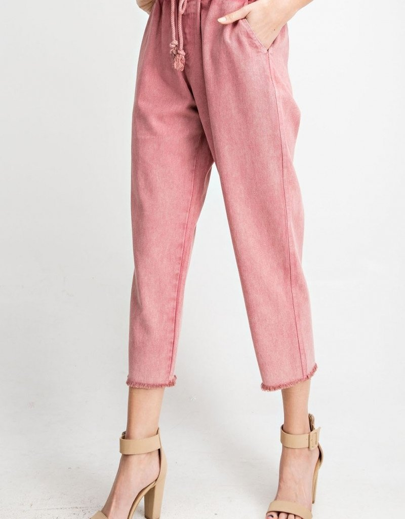 Washed Berry Boyfriend Pant