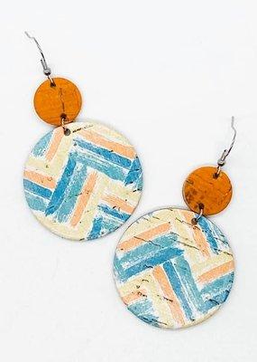 Blue/Orange/Yellow Zigzag Piggybacks