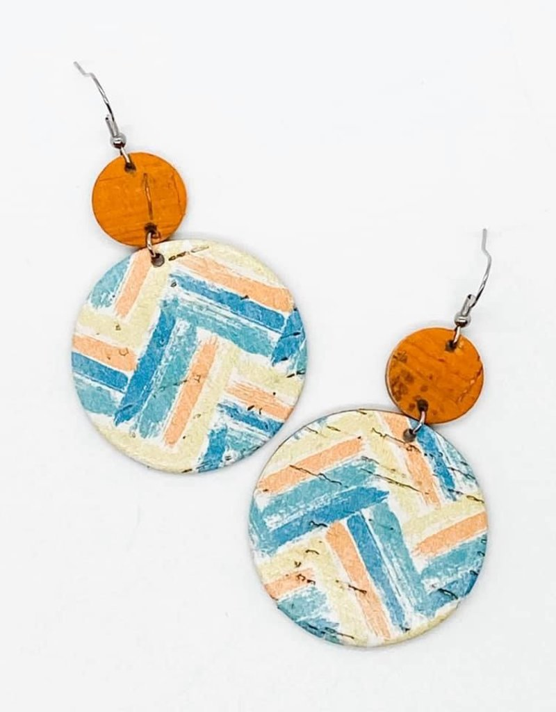 Blue/Orange/Yellow Zigzag Piggybacks