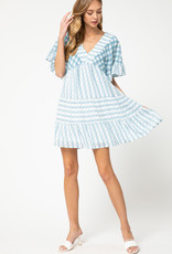 Blue + White Stripe Dot Dress