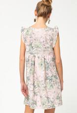 Pink Eyelet Floral Dress