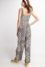 Black and White Floral Jumpsuit