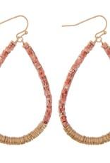 Coral Spacer Clay Beaded Earrings