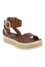 Deandra Cognac Platform Sandal