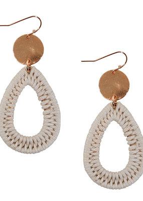 Ivory Wrapped Teardrop Earrings