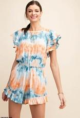 Orange Mix Tie Dye Romper