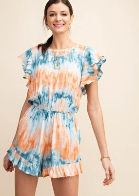 Orange Mix Tie Dye Romper