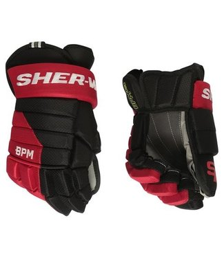 "Sherwood Hockey GLOVE BPM080 JR 12"" BLK/RED/WHI"