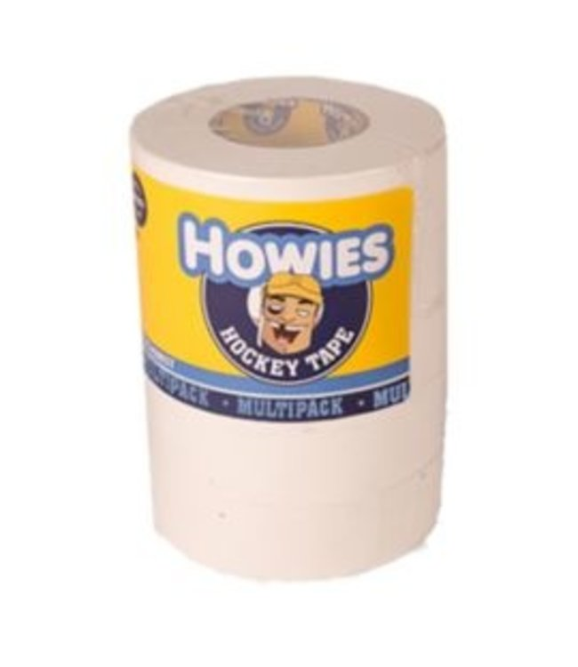 """Howies Hockey Inc Howies 5 Pack White Cloth Tape (1""""x20yd)"""