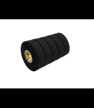 "Howies Hockey Inc Howies 5 Pack Black Cloth Tape (1""x20yd)"