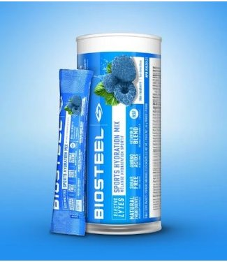 BioSteel Sports Supplements Blue Raspberry Packet Tube (12ct)