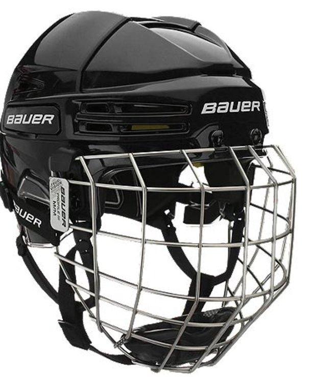 Bauer Re-akt 75 Helmet Combo - Nav (t1) Wht M