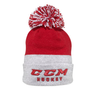 CCM Hockey - Canada C7848 CCM True To Hockey Pom Pom Toque Sr - Red/Wht