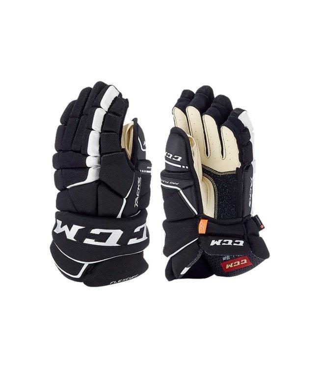 9080  Ccm Tacks Junior Gloves Black/white 10