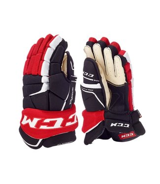 CCM Hockey - Canada HG9060 SR CCM TACKS Prot Gloves Navy/Red/White 14