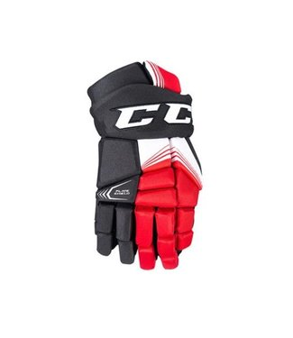 CCM Hockey - Canada HGCLAP TAC Prot Gloves SR SEC Black/Red/White 14-v.2