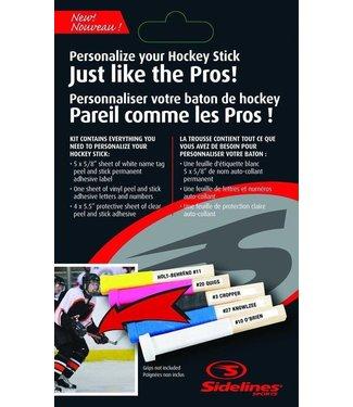 Hockey Stick Name Labels
