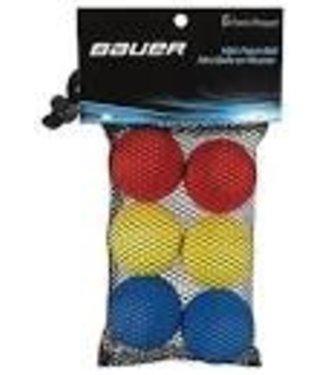 Bauer Hockey - Canada MINI FOAM BALL - 6 PACK AST - H/R
