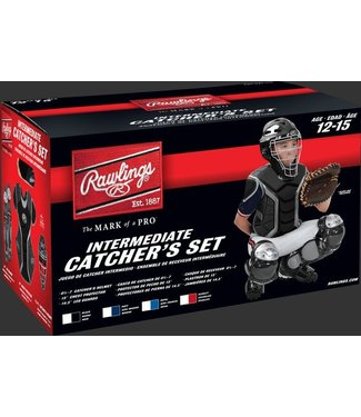 "RCSI Renegade Series Catcher's Sets - Ages 12-15 years - CH: 6 1/2 - 7 CP: 15"" LG: 14.5"" Black/Silver"