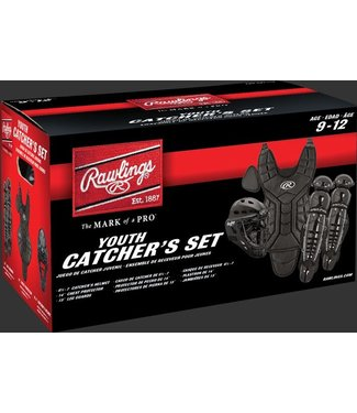 "PLCSY Players Series - Catcher's Sets - Ages 9-12 years - CH: 6 1/2 - 7 CP: 14"" LG: 13"" Black"