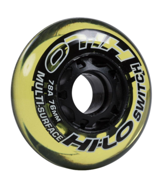 Bauer Hockey - Canada HI-LO S19 Street RH Yellow 82A Wheels 4pk