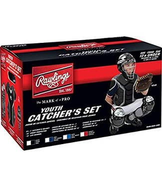 "RCSY Renegade Series Catcher's Sets - Ages 12 and Under - CH: 6 1/2 - 7 CP: 14"" LG: 13"" Black/Silver"