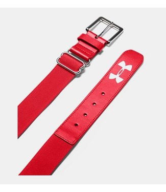 UA Adult Baseball Belt RED OSFA