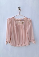 Molly Bracken Blush wrap Bubble Blouse