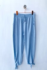 Hem and Thread Blue Knot Tie Hem Pant