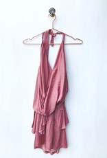 Do + Be Layered Wrap Halter Dress