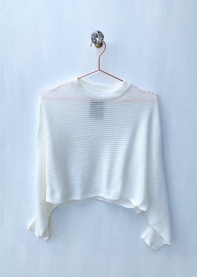 mod ref Cream Crop Sweater