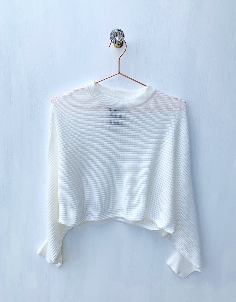 mod ref Cream Crop Sweater