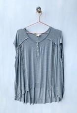 POL Gray oversized drop shoulder