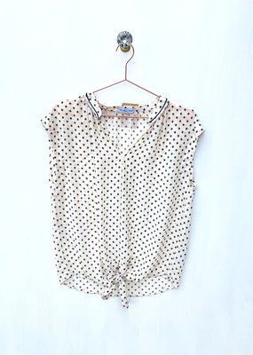 Current Air Polka Dot S/less Top