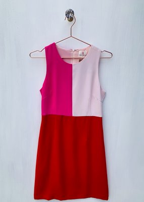 Julie Brown Hot Pink Color Block Dress