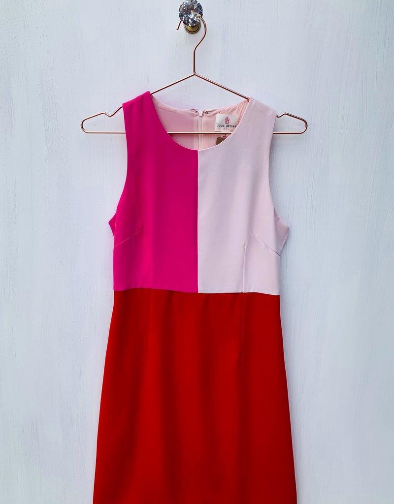 Julie Brown Hot Pink Color Block Dress